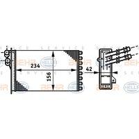 HELLA Wärmetauscher, Innenraumheizung 8FH351311021