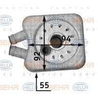 Original Hella Ölkühler, Motoröl 8MO 376 726-221