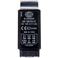 Original Hella Blinkgeber, 6-Polig, 12 V 4DN 008 768-151