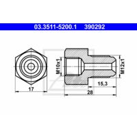 ATE Adapter, Bremsleitung 03.3511-5200.1