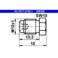 ATE Verschlussschraube, Hauptbremszylinder 03.3517-5100.1